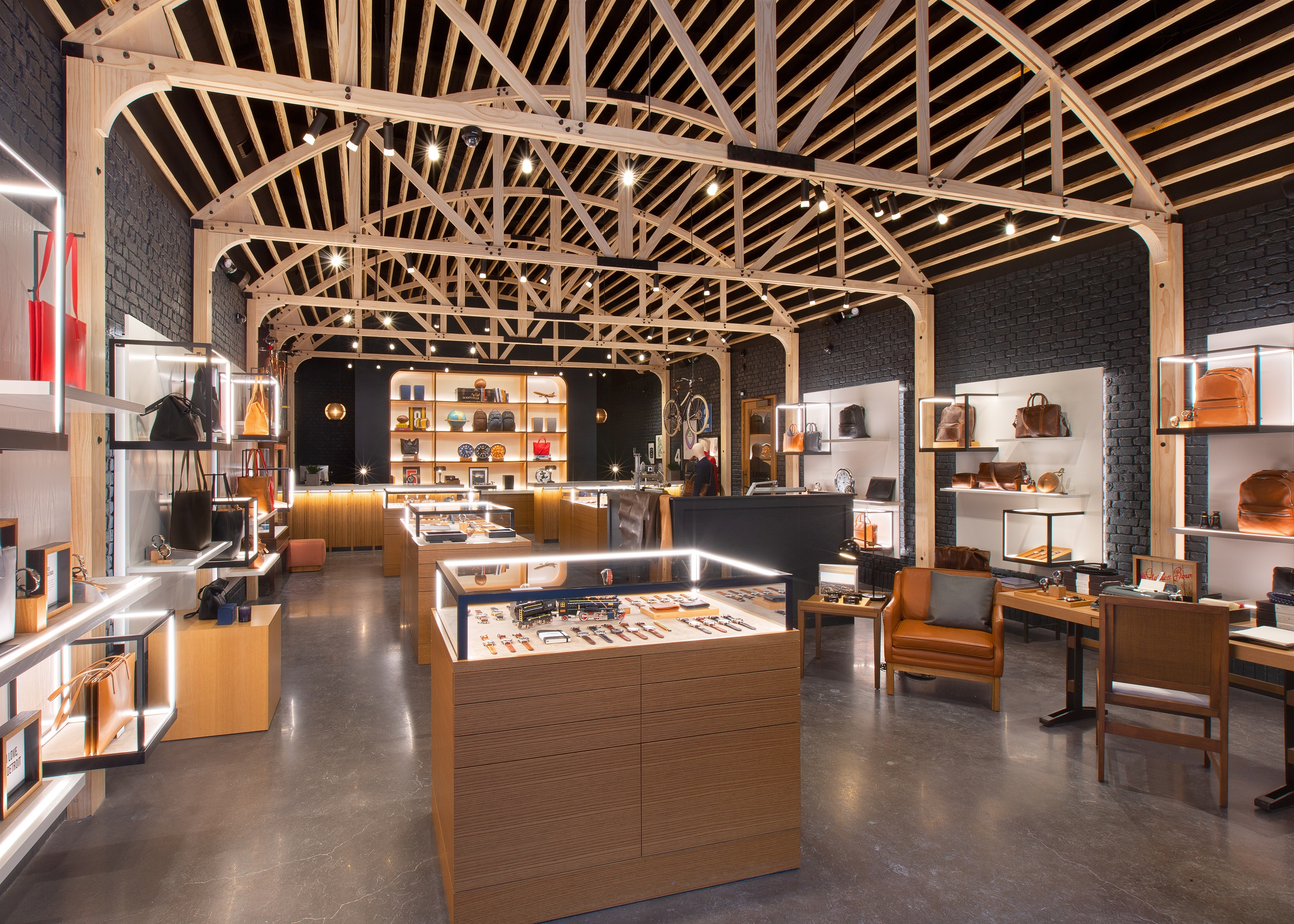 Shinola's Woodward store in Detroit.