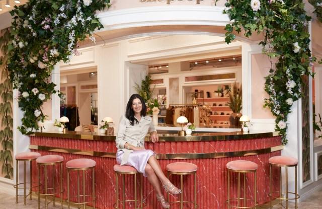 Shopbop brand president Shira Suveyke at its SoHo pop-up.