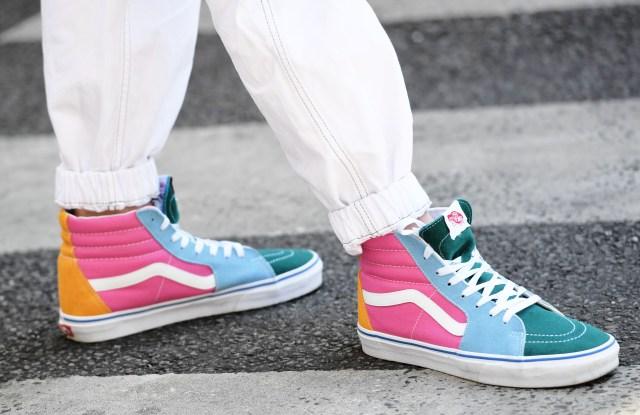 Street Style, shoe detailStreet Style, Spring Summer 2020, Paris Fashion Week Men's, France - 22 Jun 2019