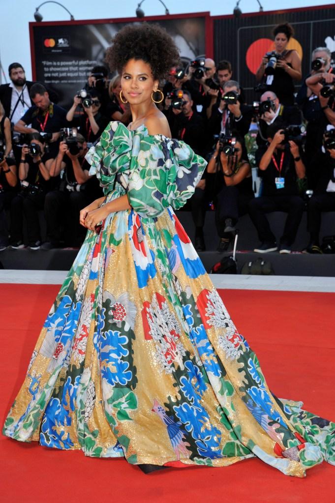 Zazie Beetz'Joker' premiere, 76th Venice Film Festival, Italy - 31 Aug 2019Wearing Valentino Same Outfit as catwalk model *10326938bh