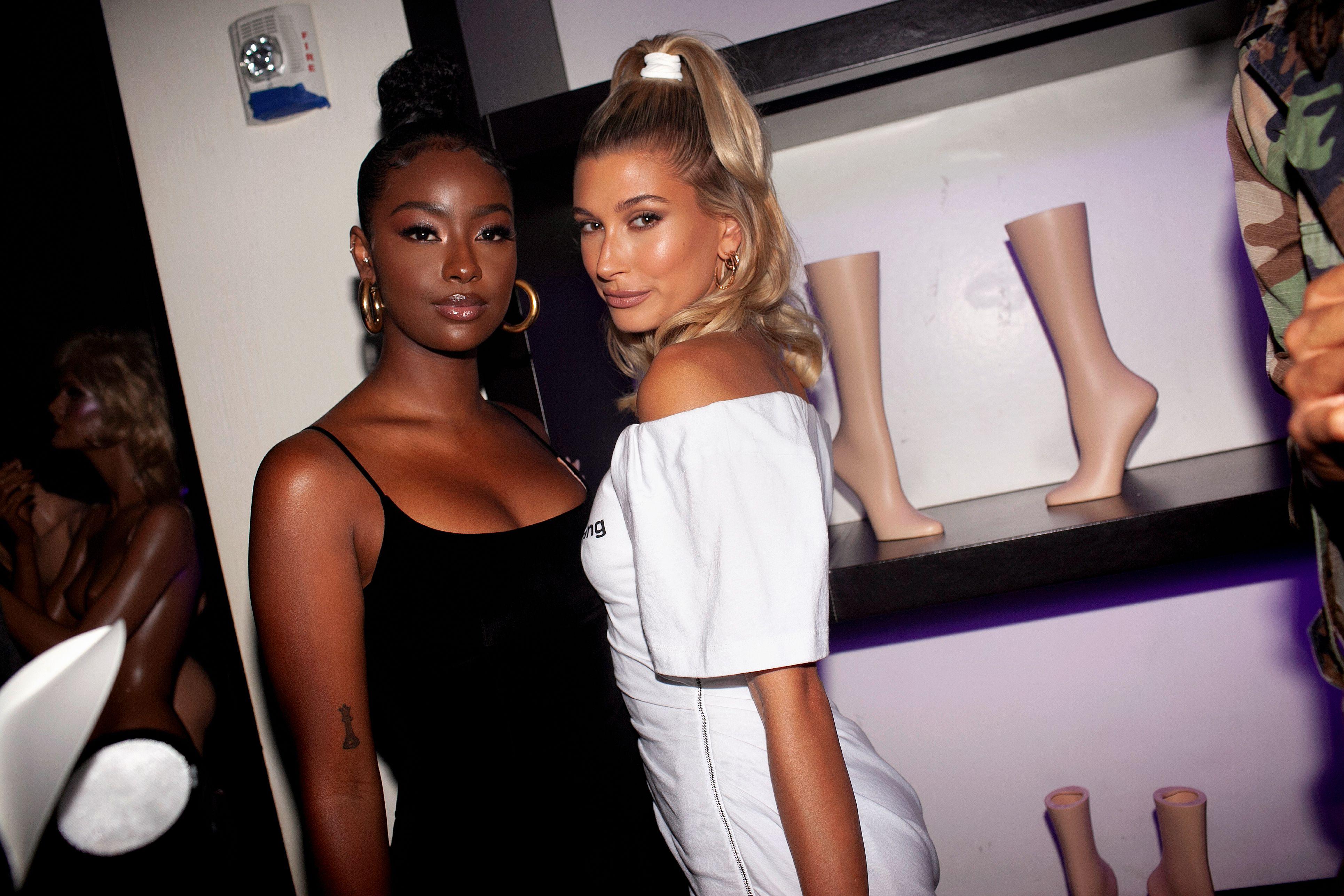Justine Skye, Hailey BieberBVLGARI party, Spring Summer 2020, New York Fashion Week, USA - 07 Sep 2019