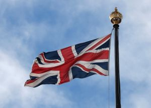 The Union Jack flag flies above the Houses of Parliament from the Victoria Tower in London, . The British government insisted Thursday that its forecast of food and medicine shortages, gridlock at ports and riots in the streets after a no-deal Brexit is an avoidable worst-caseBrexit, London, United Kingdom - 12 Sep 2019