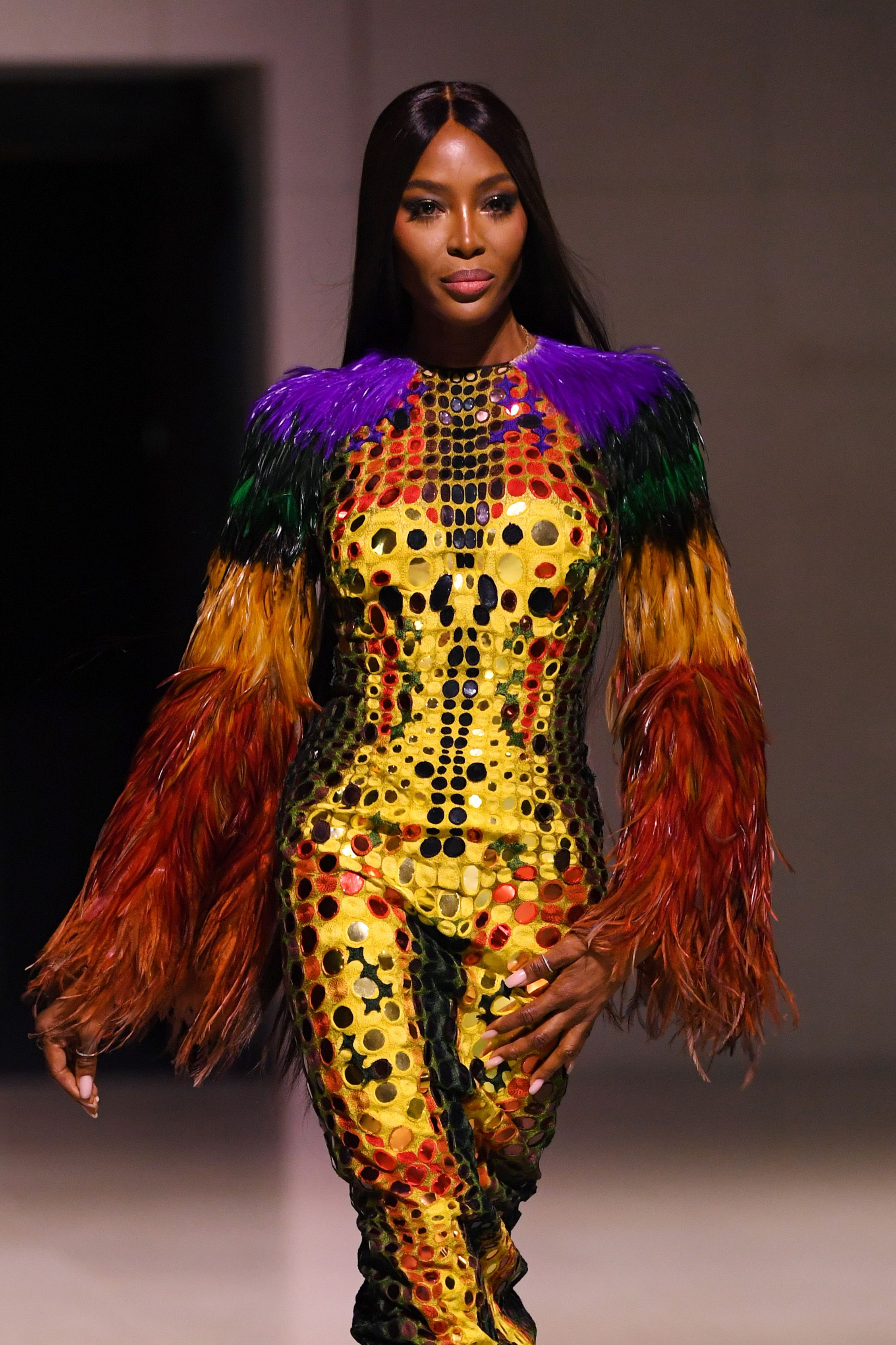 Naomi Campbell on the catwalkFashion For Relief, Runway, Spring Summer 2020, London Fashion Week, UK - 14 Sep 2019