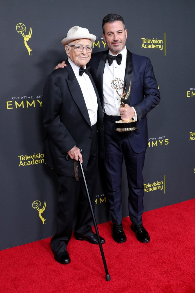 Norman Lear and Jimmy Kimmel - Outstanding Variety Special - 'Live In Front Of A Studio Audience: Norman LearÕs All In The Family And The Jeffersons'71st Annual Primetime Creative Arts Emmy Awards, Day 1, Press Room, Microsoft Theater, Los Angeles, USA - 14 Sep 2019