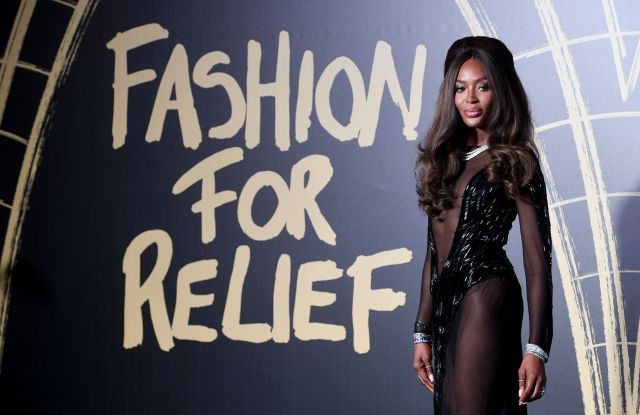 British model Naomi Campbell on the red carpet of the 'Fashion For Relief' charity gala during London Fashion Week, in London, Britain, 14 September 2019. Spring/summer 2020 collections are presented at the fashion week running from 13 to 17 September.Fashion for relief - Red Carpet - London Fashion Week S/S 2020, United Kingdom - 14 Sep 2019