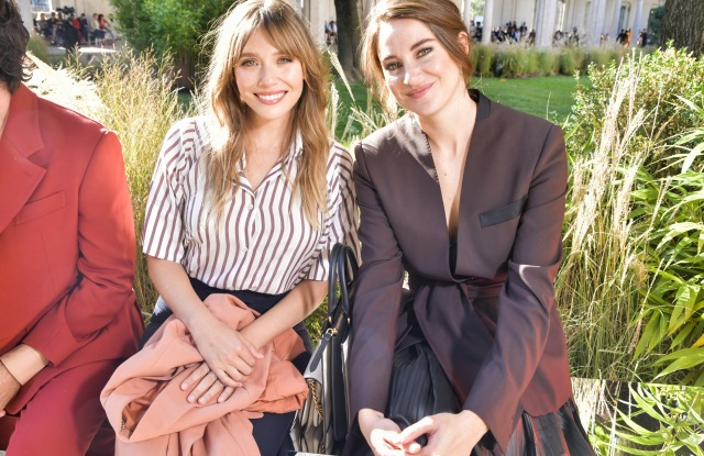 Elizabeth Olsen and Shailene Woodley in the front rowSalvatore Ferragamo show, Front Row, Spring Summer 2020, Milan Fashion Week, Italy - 21 Sep 2019