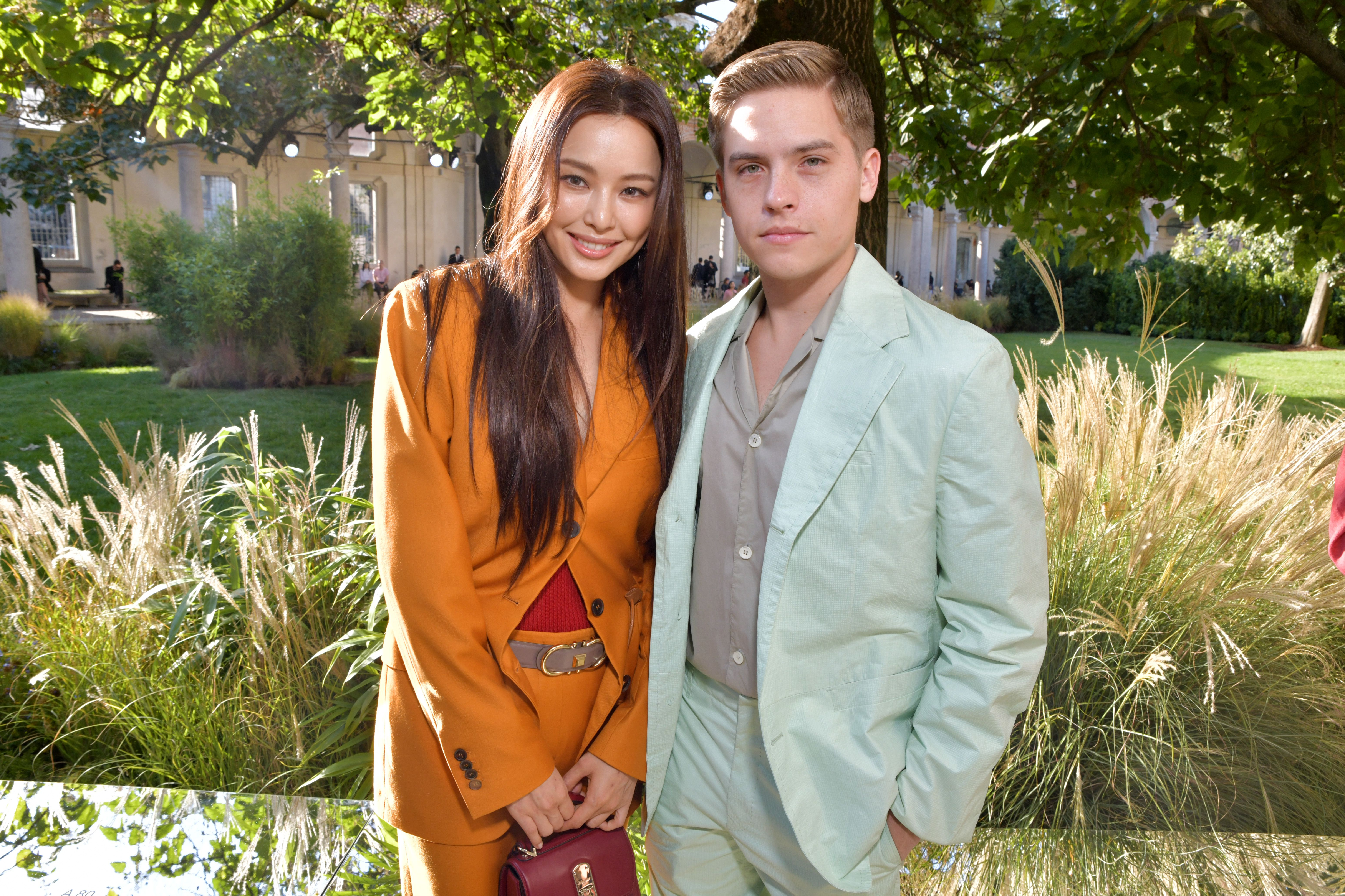 Lee Hanee and Dylan Sprouse in the front rowSalvatore Ferragamo show, Front Row, Spring Summer 2020, Milan Fashion Week, Italy - 21 Sep 2019