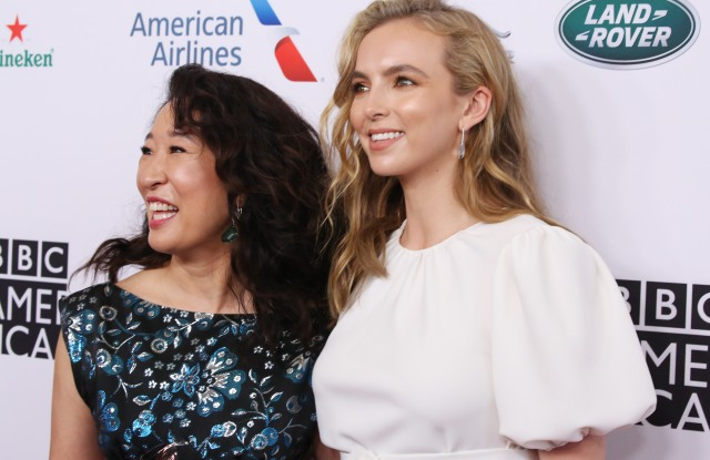 Sandra Oh and Jodie ComerBAFTA LA TV Tea Party, Arrivals, The Beverly Hilton, Los Angeles, USA - 21 Sep 2019