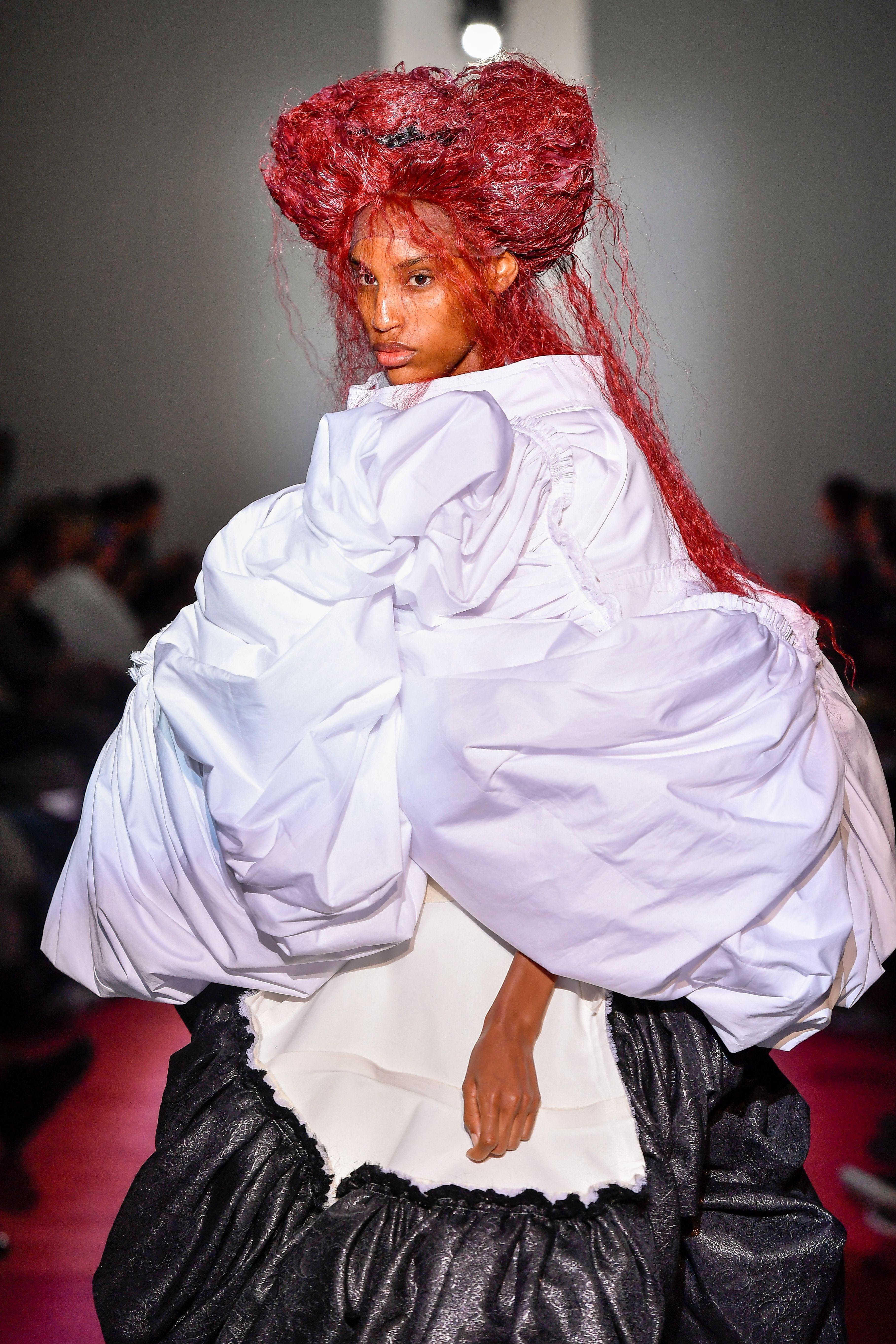 Model on the catwalkComme Des Garcons show, Runway, Spring Summer 2020, Paris Fashion Week, France - 28 Sep 2019