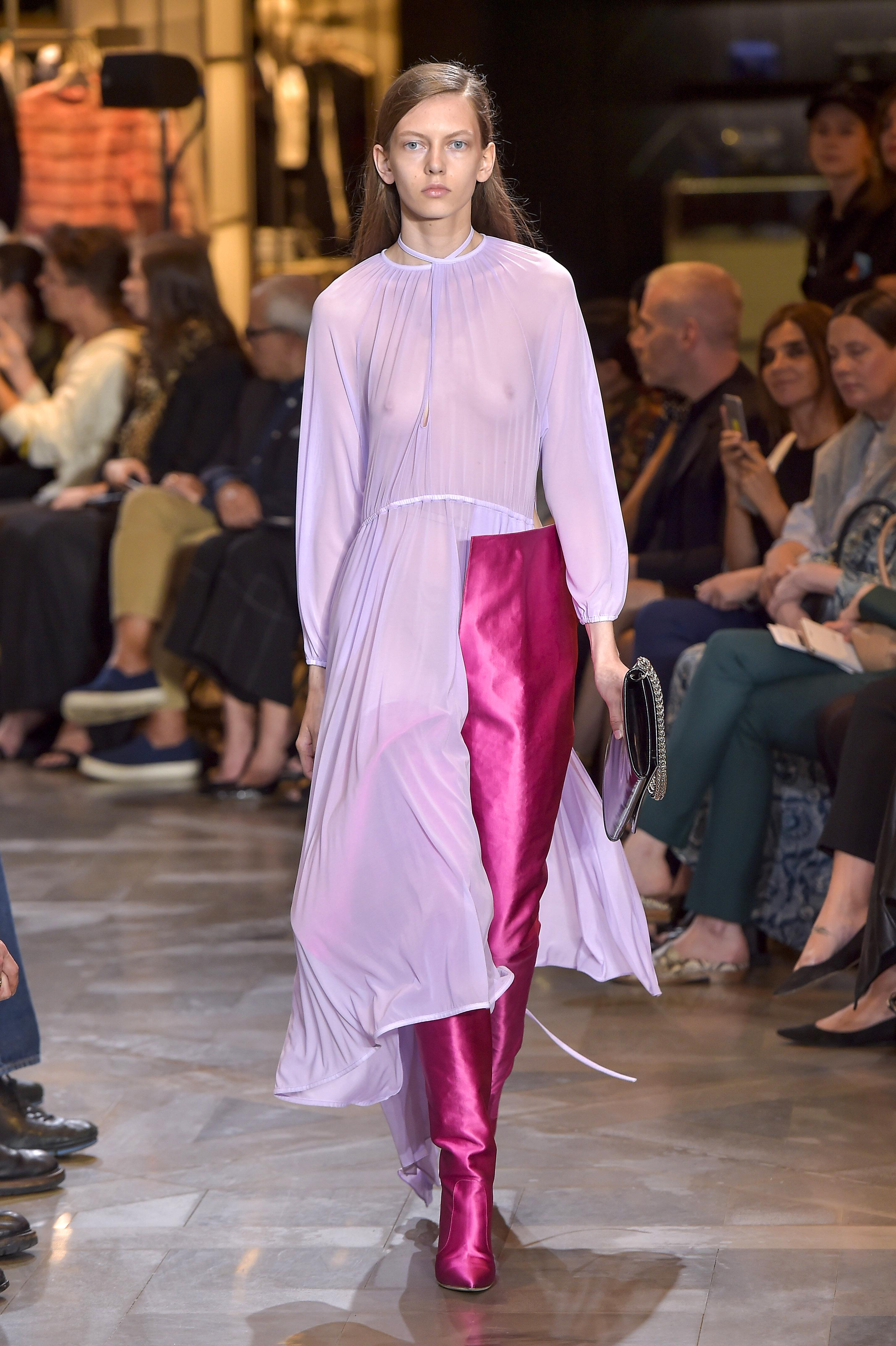 Model on the catwalkVetements show, Runway, Autumn Winter 2016, Haute Couture Fashion Week, Paris, France - 03 Jul 2016