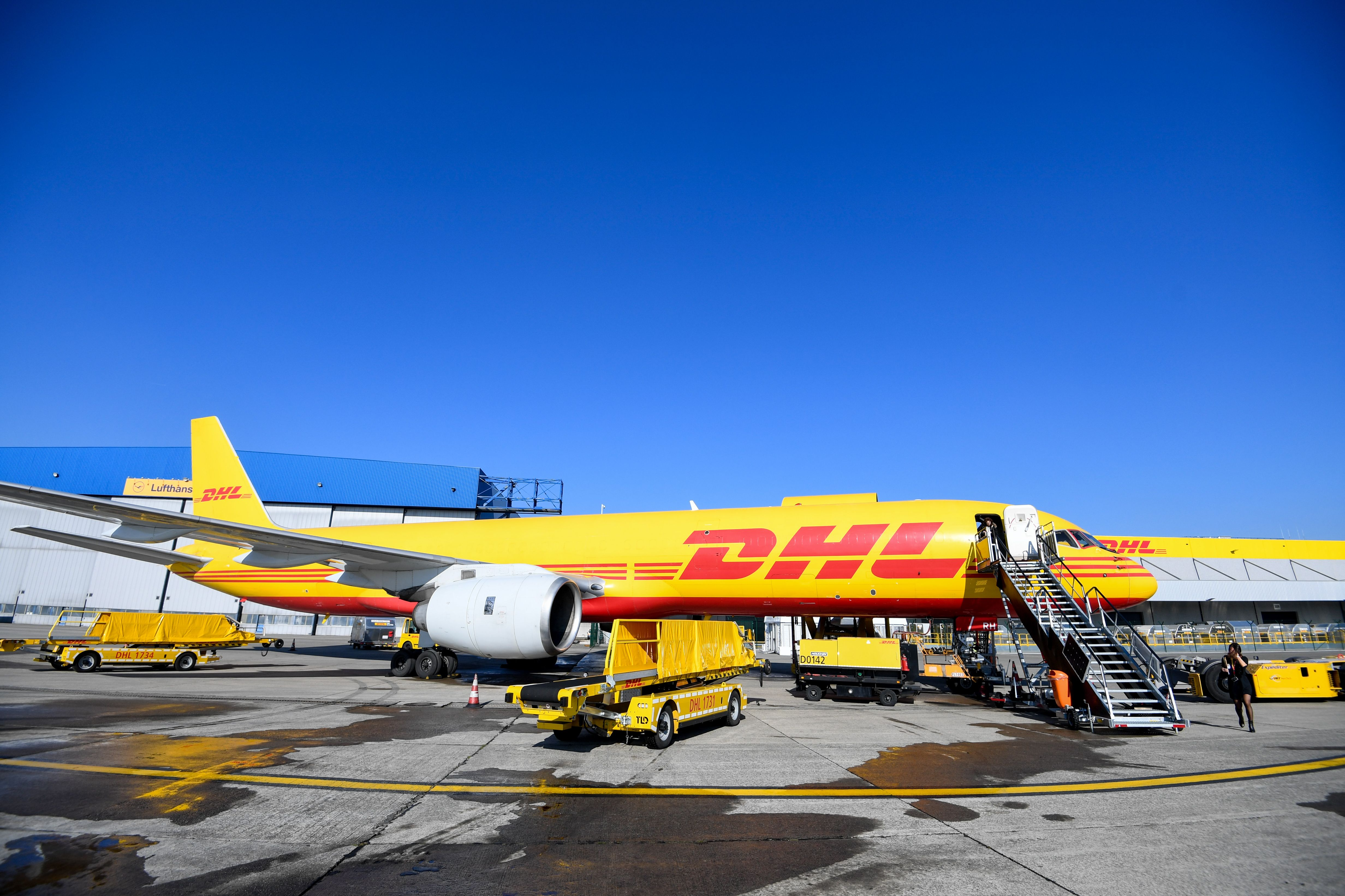 DHL hubNew Brussels hub of DHL opening, Steenokkerzeel, Belgium - 22 Feb 2018 PC with CEO of DHL Express Ken Allen and CEO of Brussels Airport Arnaud Feist following the official opening of the new Brussels hub of DHL. This new and ultramodern hub, an investment of 114 million euros, means a considerable reinforcement for the European network of DHL, ensures the creation of 200 new jobs and triples the capacity of DHL Brussels thanks to the modernization of the sorting techniques used.