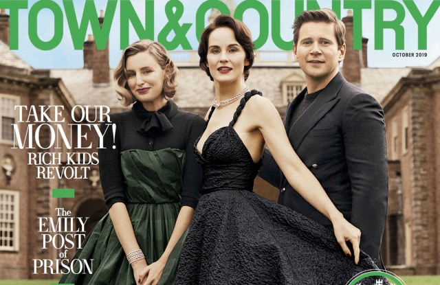 Downton Abbey movie Town & Country magazine cover 2019