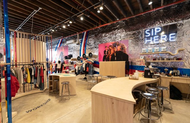 The Tommy Jeans pop-up shop in Brooklyn.