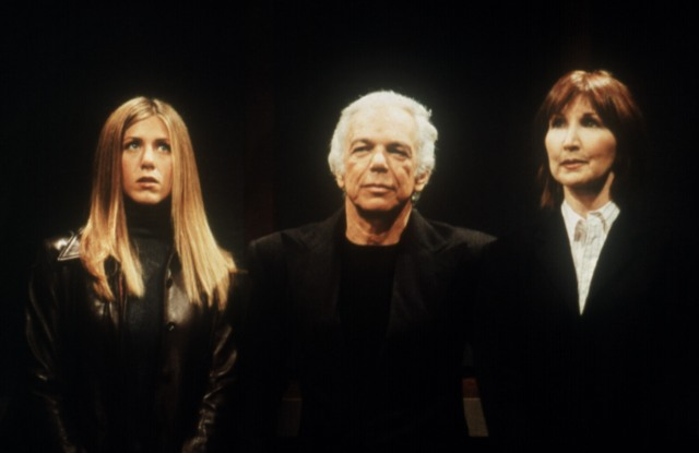 Jennifer Aniston, Ralph Lauren, Joanna Gleason in FriendsOne With Ross's Teeth,' 1999-2000 season, yr6, 11-18-1999