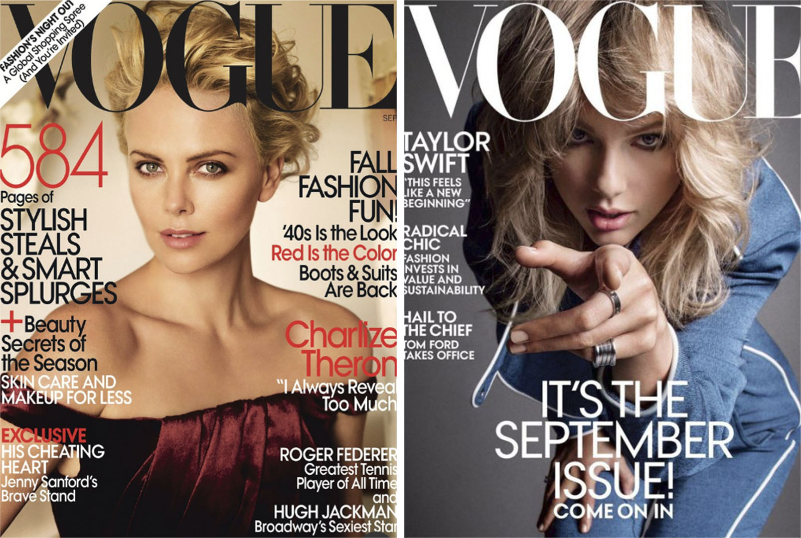 Vogue September issues 2009 compared 2019