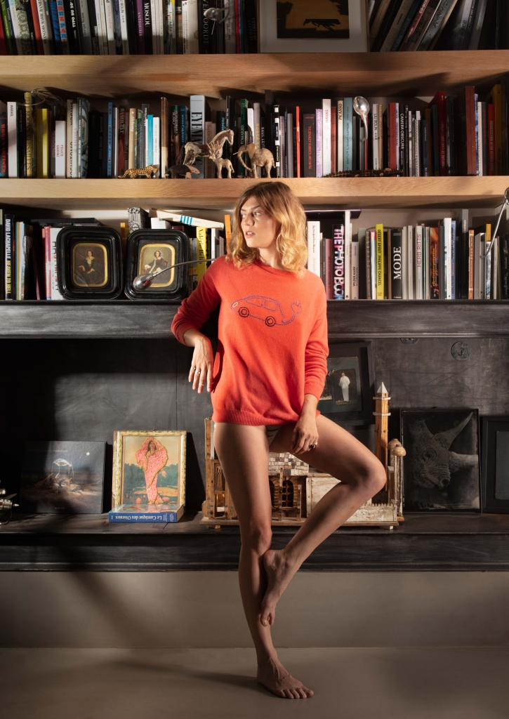 A sweater by Vitos.