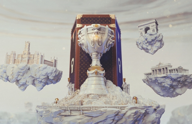 A rendering of Louis Vuitton's trunk for the League of Legends World Championship Summoner's Cup.
