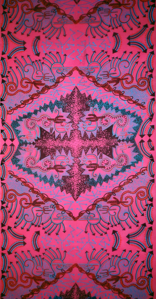 Zandra Rhodes, Cactus Highway Print, 1976