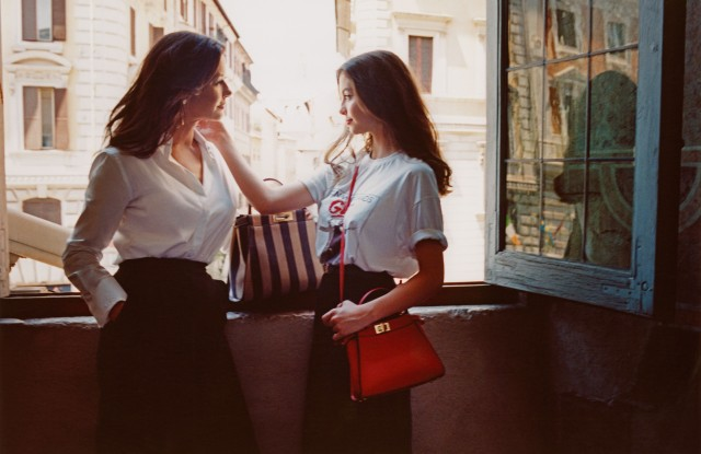 Catherine Zeta Jones and Carys Douglas starring Fendi's #MeAndMyPeekaboo project