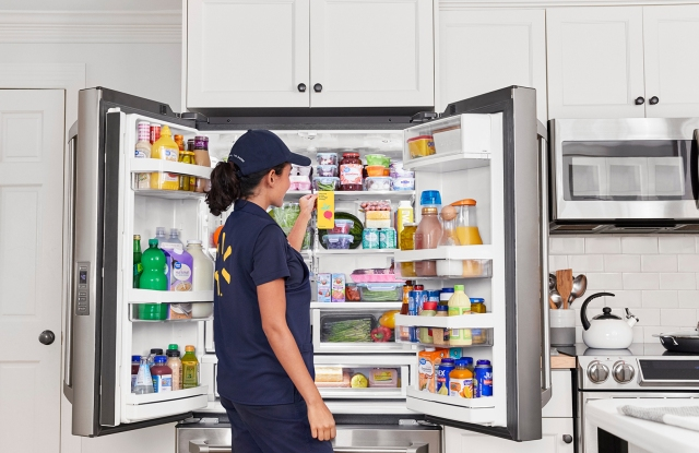 A Walmart's InHome Delivery groceries straight to consumers' refrigerators.