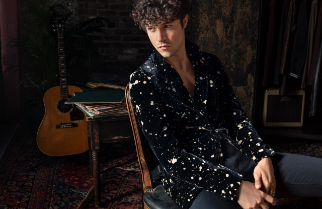 A look from the John Varvatos Led Zeppelin capsule.