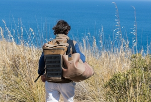 A solar powered backpack from Sease.