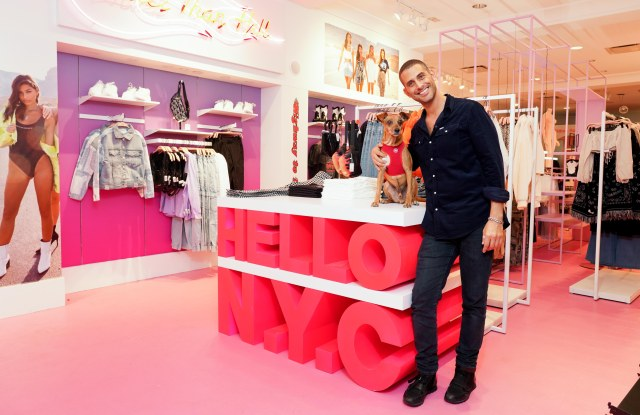 Dedy Schwartzberg and his new Adika pop-up shop at 508 Broadway in New York.