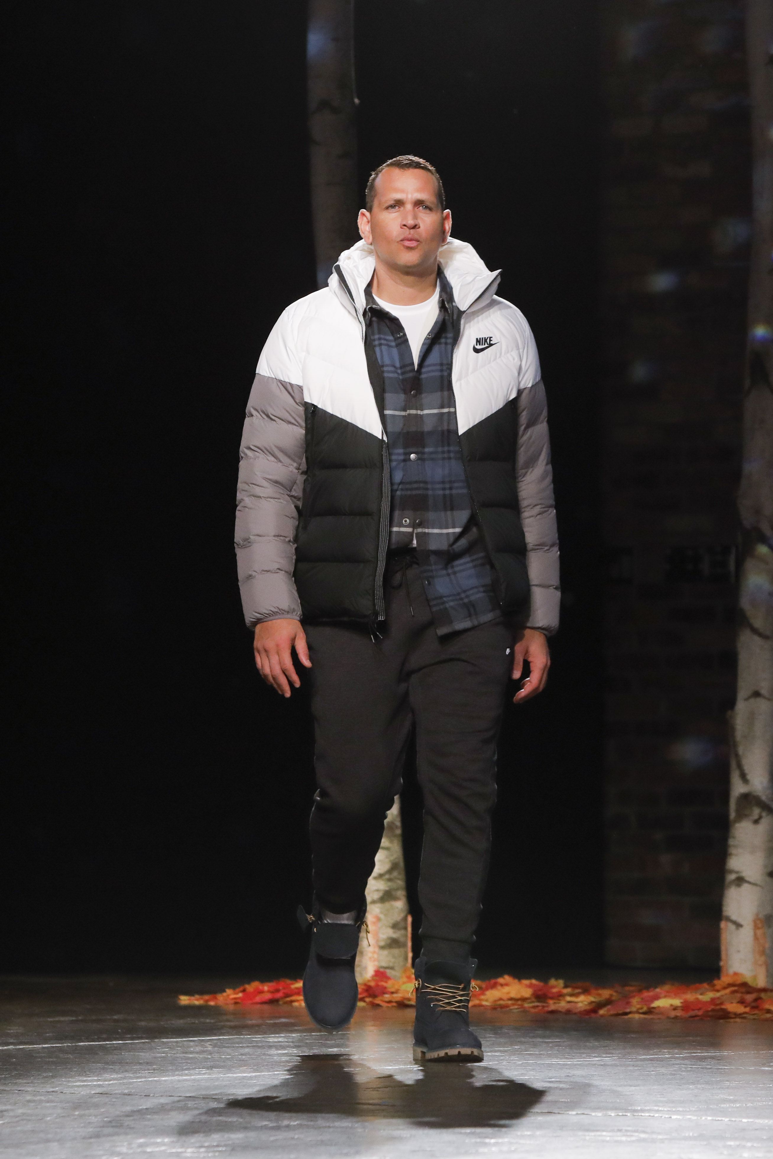 Alex Rodriguez on the runway for Dick's Sporting Goods.