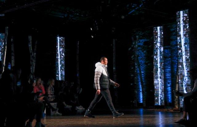 Alex Rodriguez hits the runway.