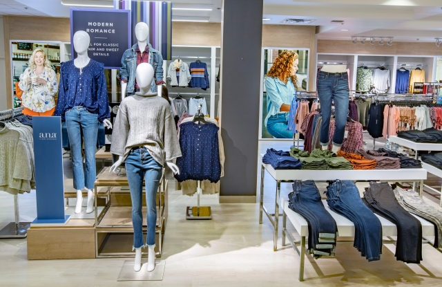 """Penney's """"all day"""" area spotlights denim and the A.N.A. private brand."""