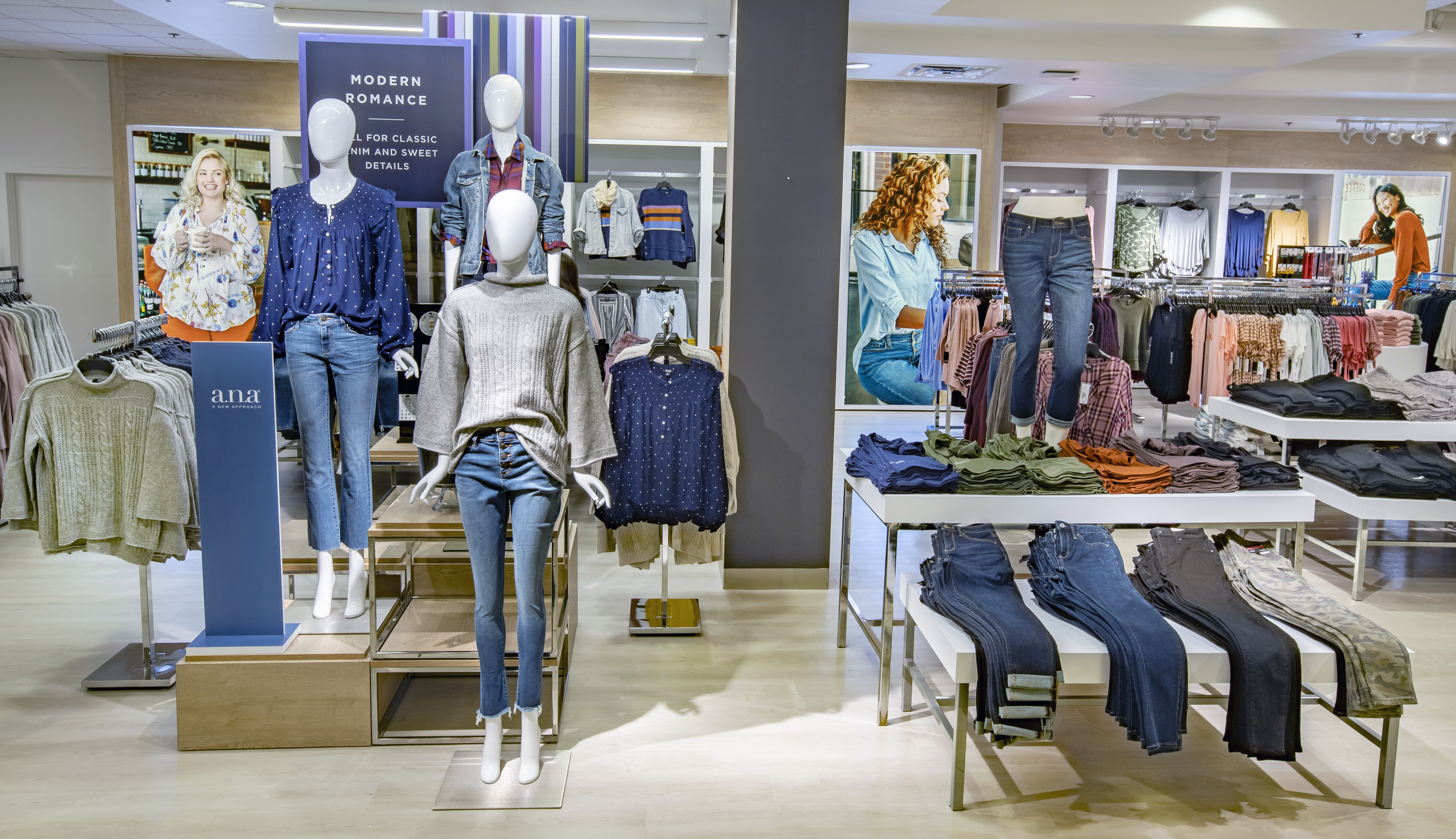"Penney's ""all day"" area spotlights denim and the A.N.A. private brand."