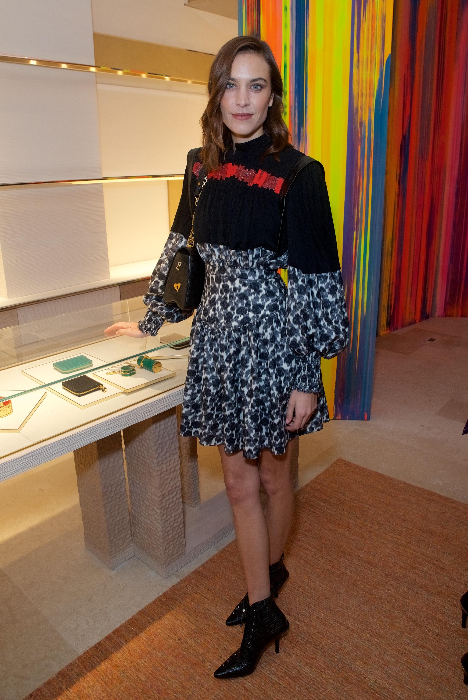 Alexa Chung at the Louis Vuitton New Bond Street opening