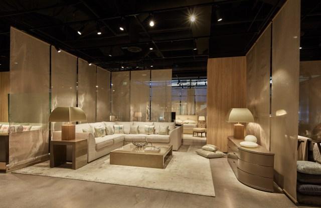 The new Armani Casa store in Los Angeles.