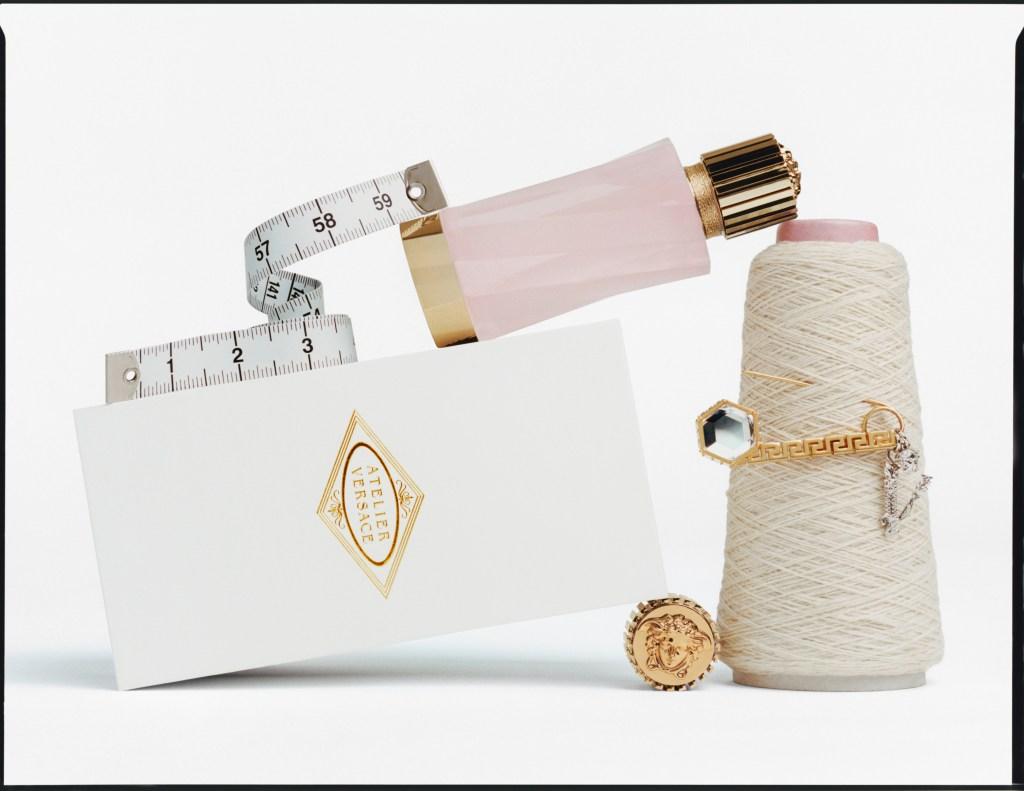 The Éclat de Rose fragrance by Atelier Versace.
