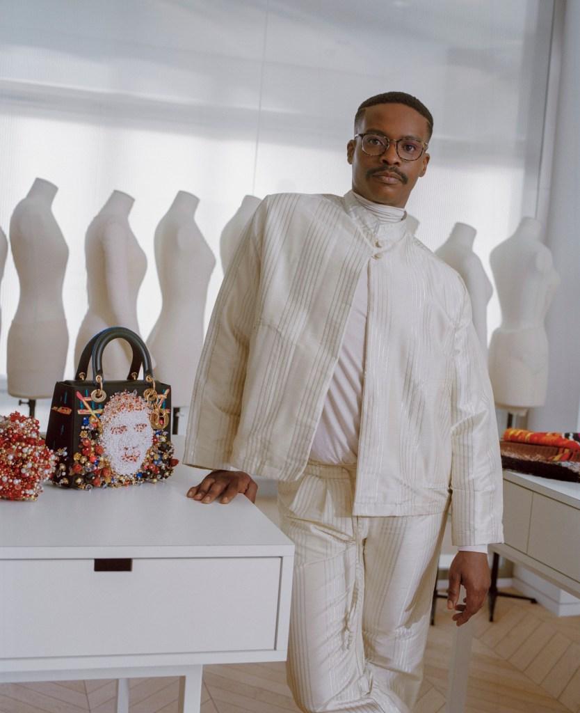 Athi-Patra Ruga with his Dior Lady Art design.