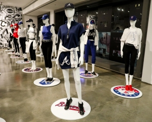 Looks from DKNY's women's product for MLB.