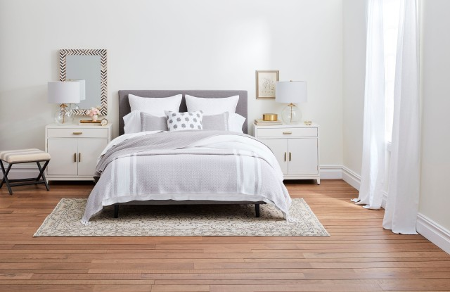 Sheets, pillows and blankets from Boll & Branch.
