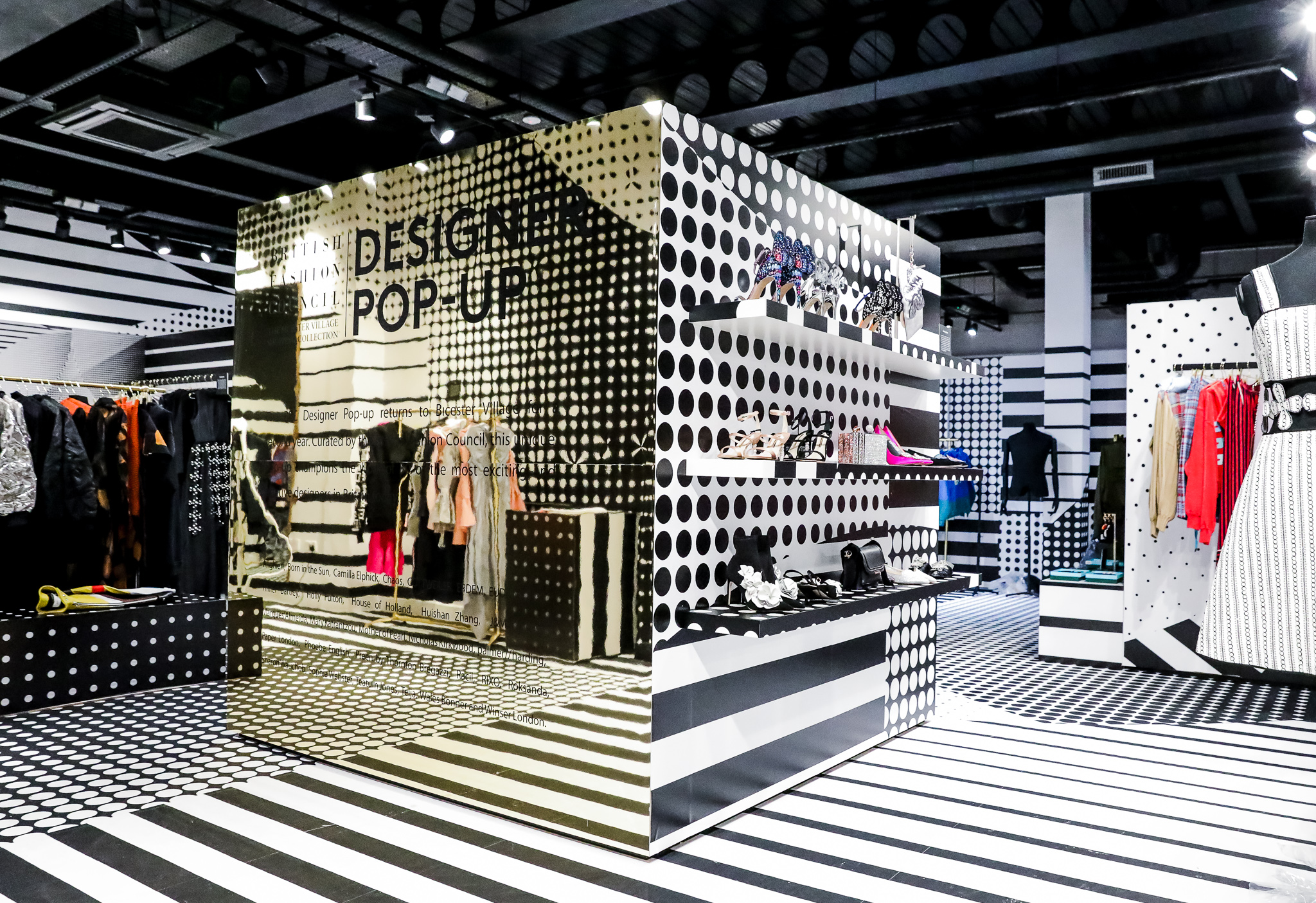 The BFC pop-up space at Bicester Village in Oxfordshire.