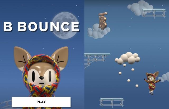 Screenshots of Burberry B Bounce interface