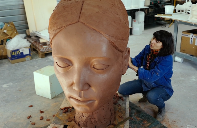 Artist Prune Nourry uses sculpture, performance, video and photography for her art.