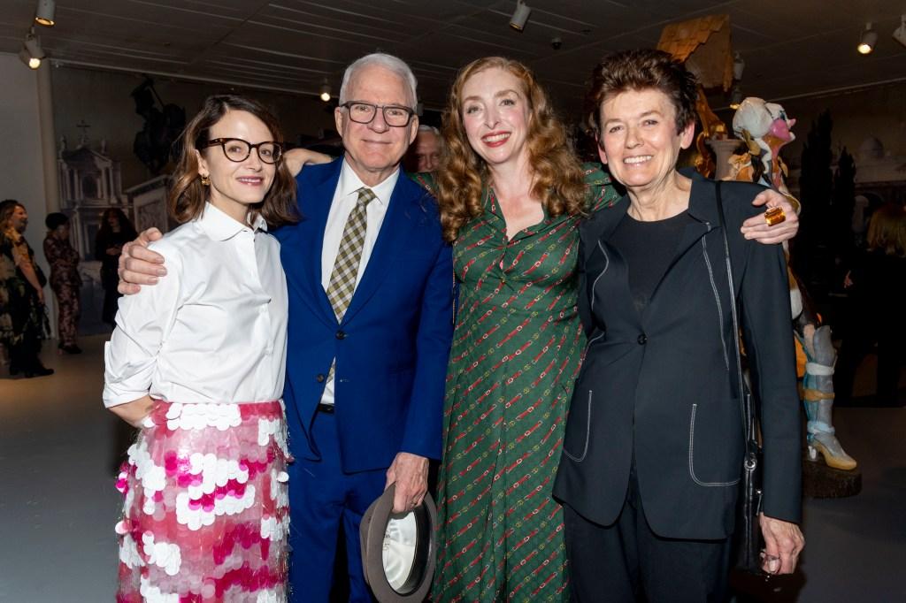 Anne Stringfield, Steven Martin, Rachel Feinstein, Ursula von Rydingsvard