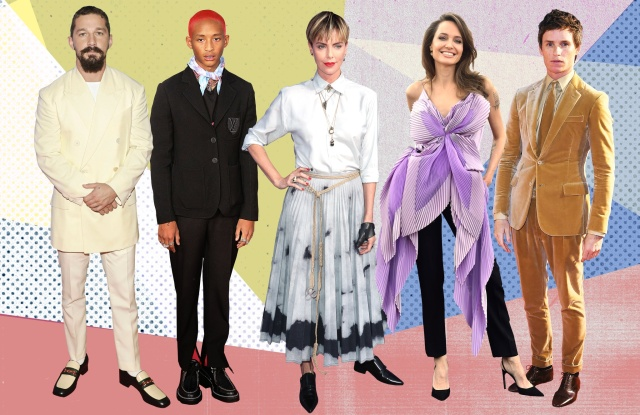Shia LaBeouf, Jaden Smith, Charlize Theron, Angelina Jolie, and Eddie Redmayne