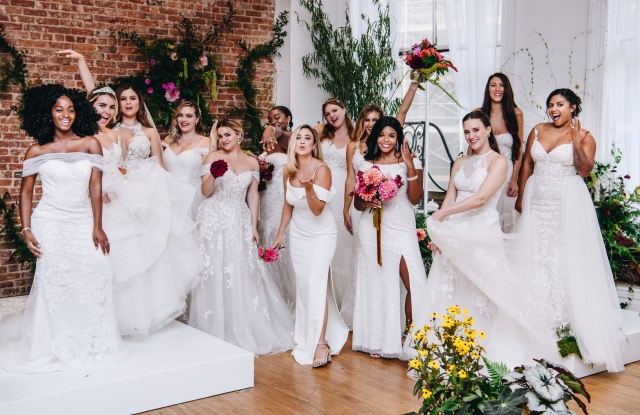 David's Bridal's presentation during bridal fashion week featured real women who are planning weddings.