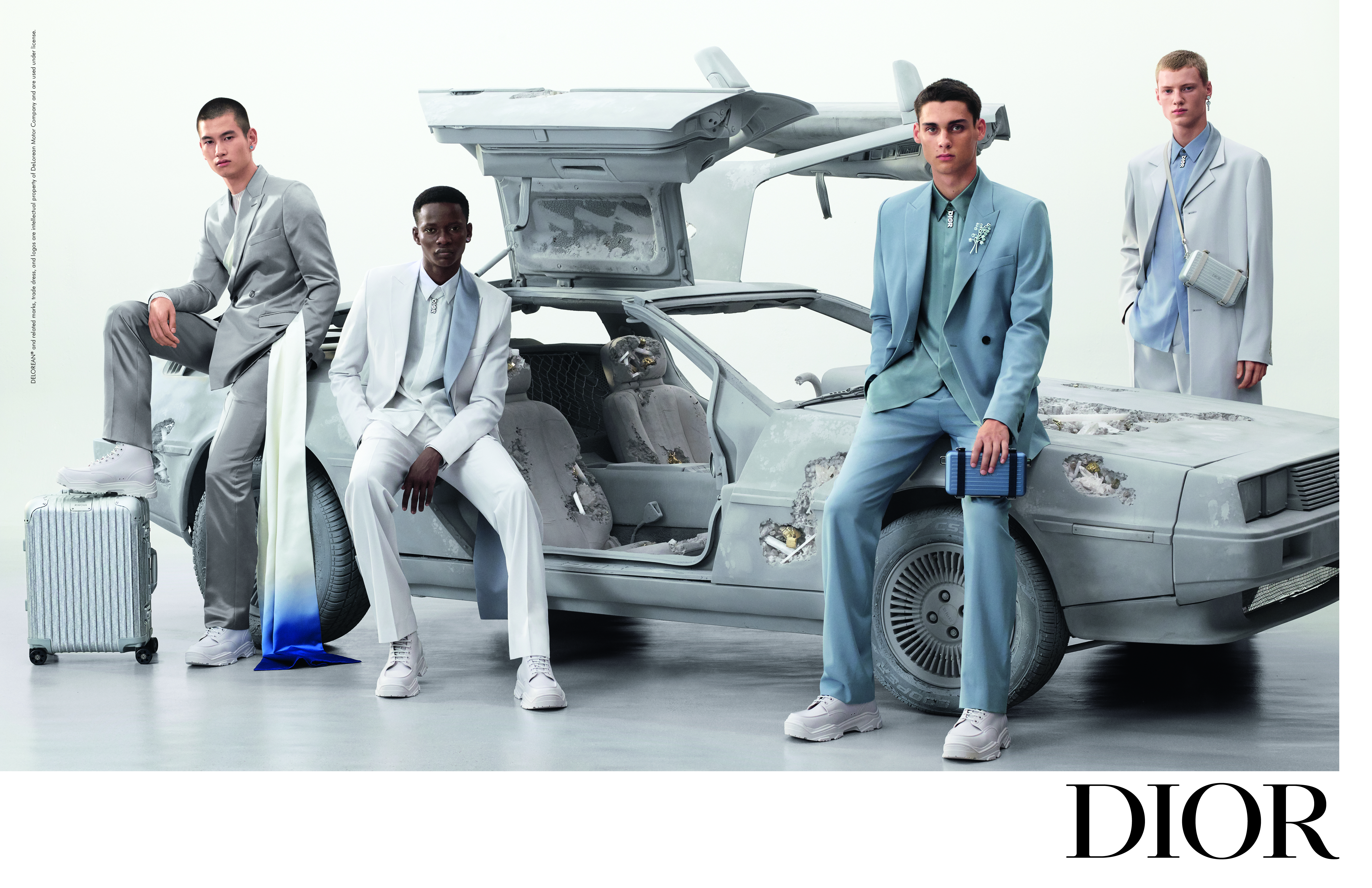 The Dior men's ad campaign featuring a sculpture by Daniel Arsham.