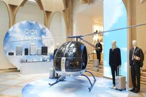 Dior Rimowa helicopter