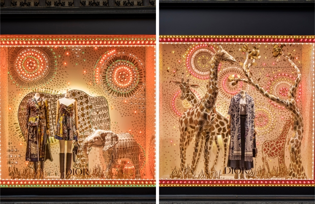 Saks Fifth Avenue's Dior windows tell the story of the brands Marrakech adventure.