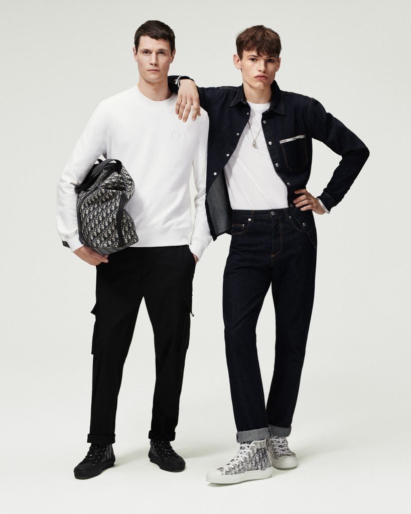 Looks from the Dior Essentials men's line.
