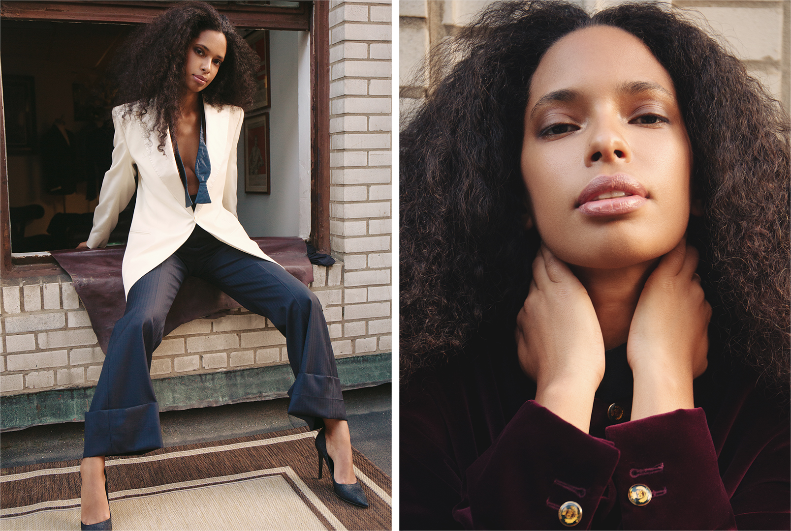 Two looks from Duca Donna.