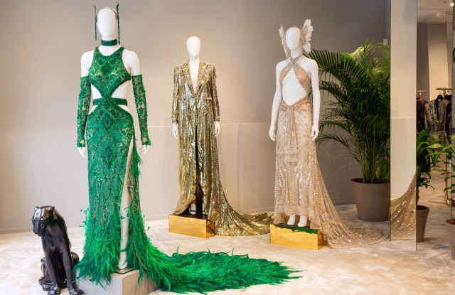The Met Gala dresses on display at the Dundas Sloane Street pop-up