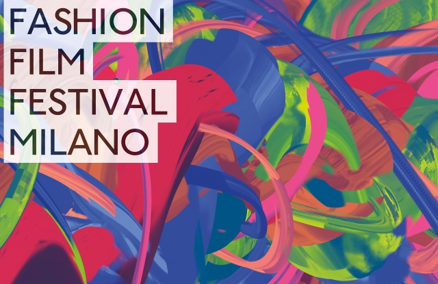 The Fashion Film Festival Milano poster designed by young digital artist Ezra Miller.